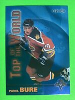 1999-00 Topps O-Pee-Chee Top Of The World #TW9 Pavel Bure Florida Panthers SP