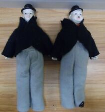 "Laurel and Hardy Dolls Porcelain Vintage 10""  050818DBT2"