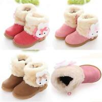 Mignon enfants bébé fille mode hiver coton bottes bottes de neige chaudes