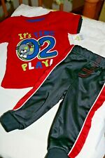 Baby Boy's Clothing *JOGGER SET * It's Time To Play* Sz -12 Mo -2-pc. gifts NWT