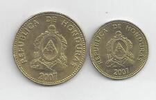 2 VERY NICE COINS from HONDURAS - 5 & 10 CENTAVOS (BOTH 2007)