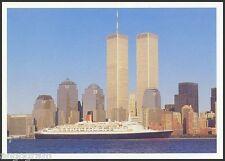 SHIPPING POSTCARD - Ocean Liners - Queen Elizabeth 2 New York