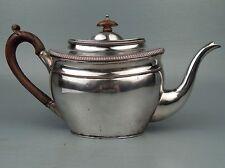 Antique English 19c Sheffield Silver on Copper Tea Pot - Georgian Silverplate SL