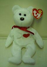 #3811 NWT RETIRED Ty 1993 Valentino the Bear Valentine's Beanie Baby DOB 2-14-94