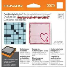 Fiskars Fuse Creativity Design Set 0079 SQUARE Die Cut & Letterpress