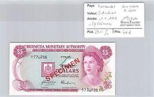 BILLET BERMUDES- 5 DOLLARS -1.4.1978 -SPÉCIMEN -AVEC NUMÉROS DE SÉRIE-1ère DATE