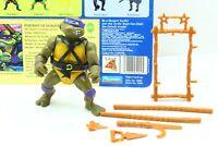 Vintage 1988 Teenage Mutant Ninja Turtles DONATELLO Figure w/ Full Cardback TMNT