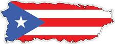 Pegatina autoadhesiva adhesiva coche vinilo bandera tarjeta puerto rico porto