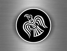 Sticker car decal biker banner tuning viking raven helmet vinland flag odin r1