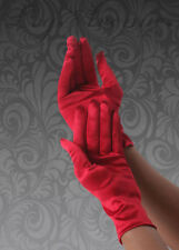 Ladies Leg Avenue Short Red Satin Gloves