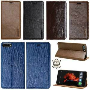 Premium Echt Leder Cover für Apple/Samsung Handy Schutz Hülle Case Tasche Etui