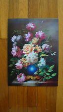 "7 x 3.5"" Stereogram 3D Poster Stunning Still Art Style Flowers"