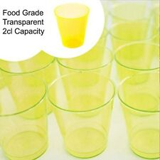 200 Plastic Shot Glasses Transparent Coloured Disposable Party Cups Food BBQ