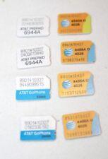 At&T 8 Sim Cards - 2 Nano Pre-paid, 2 Nano GoPhone, 4 Nano - testing only