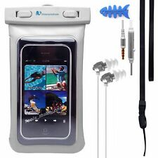Waterproof Case +HEADPHONES Sports FLOATS Motorola Moto G5S Plus Nokia 6 LG V30
