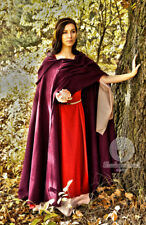 "Medieval Wool cloak ""AUTUMN PLUM"" with hood. renaissance cape Cosplay, LARP SCA"