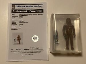 🔥 VINTAGE 1977 STAR WARS 🔥 CHEWBACCA 🔥 ACTION FIGURE LOOSE GRADED CAS 80 🔥