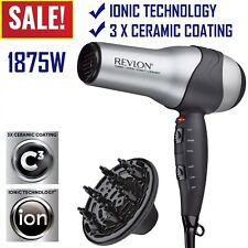Ionic Hair Dryer Revlon Professional Turbo Blow 2 Speed with Diffuser 1875W