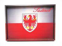 Südtirol Italien Flagge Souvenir Deluxe Holz Magnet 8,5 cm Neu