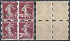 FRANCE SEMEUSE N°139 BLOC DE 4 1907 NEUF ** LUXE MNH