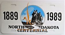 1989 NORTH DAKOTA 100th ANNIVERSARY CENTENNIAL COMMISSION BOOSTER License Plate
