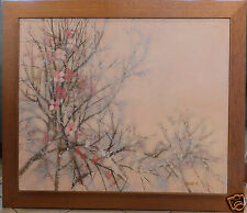 Rouquier branches de cerisier cherry tree branches huile oil painting