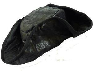 Black Pirate Tricorn Hat Jack Sparrow Fancy Dress Unisex Caribbean Costume