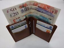 Top Quality Soft Cow Leather Slim Tall Wallet ideal for Back Pocket Tan Colour