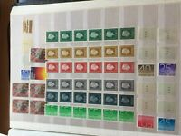 Netherlands nhm stamps all with roll numbers incl strips of 6 with dual numbers