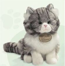 Yomiko Classics Grey Tabby Cat 9 inch, NEW  by Russ Berrie
