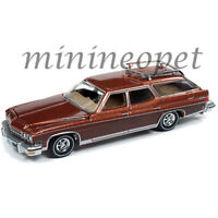 AUTOWORLD AW64222 1974 BUICK ESTATE WAGON 1/64 DIECAST MODEL CAR CP7601 BROWN