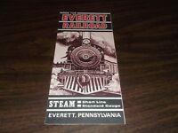 1960's EVERETT RAILROAD COMPANY PUBLIC TIMETABLE