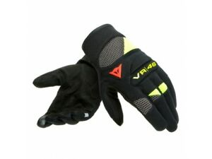 Motorcycle Gloves Man Dainese VR46 CURB SHORT Black Anthracite Fluo-Yellow