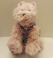 "BABW Pink Darling Westie Yorkie Terrier Dog 16"" Plush With Dress And Collar (P7)"