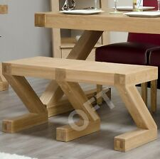 Z solid oak dining room designer furniture small seating bench