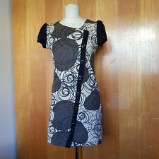 Designer-Kleidchen! Hübsches Tunikakleid von Smash, L, beige, braun, schwarz