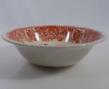 Woods Burslem Seaforth in rot Schüssel Dm 19 cm Keramik England Landhausstil