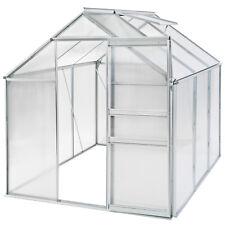 Invernadero Policarbonato Aluminio crecer plantas growhouse estructura de jardín 5.7m³