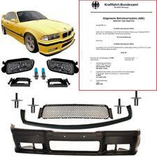BMW E36 Stoßstange vorne +GT Evo Lippe+Nebel BLACK für M3 M-Paket +NIETEN +*ABE*