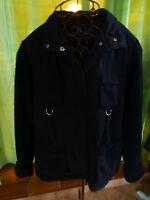 T44  veste noire ,confortable et chaude ,BLEU DE SYM