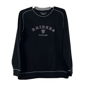 Antigua Mens Oakland Raiders Sweatshirt Size XL Black Football NFL