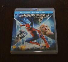 The Amazing Spider-Man 2 3D (Blu-ray/DVD, 2014, 3-Disc Set)