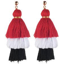 Vintage Bohemian Earrings Women Long Tassel Fringe Dangle Earrings Boho Jewelry