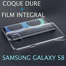 Coque transparente cristal dure samsung galaxy S8 + film integral entier