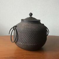 Chagama Kama Iron Kettle Tea Ceremony Sado Japanese Traditional Crafts f032