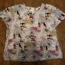 New listing Mickey And Minnie Mouse Medical Theme Scrub Top Size Xl