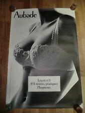 AUBADE Advertising Poster 93cm x 63cm Sexy Lingerie Nude, Lesson Leçon nº 57