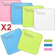 Porte Masques Étui Cover Récipient Organiseur Portable de Poche X2