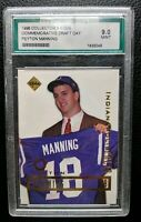 1999 EDGE PEYTON MANNING COMMORATIVE ROOKIE INDIANAPOLIS COLTS BRONCOS AGS 9 MT