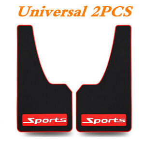 Universal Rubber Fender Mud Flaps Splash Guards Protector Fit For Car Truck 2Pcs